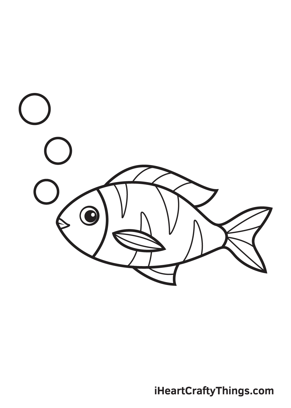 fish drawing - step 9