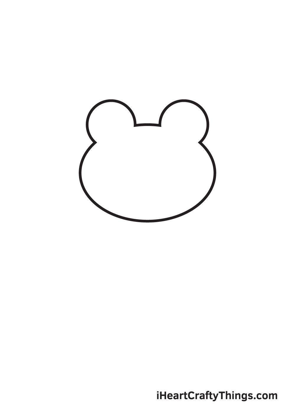 Vẽ ếch - Bước 1