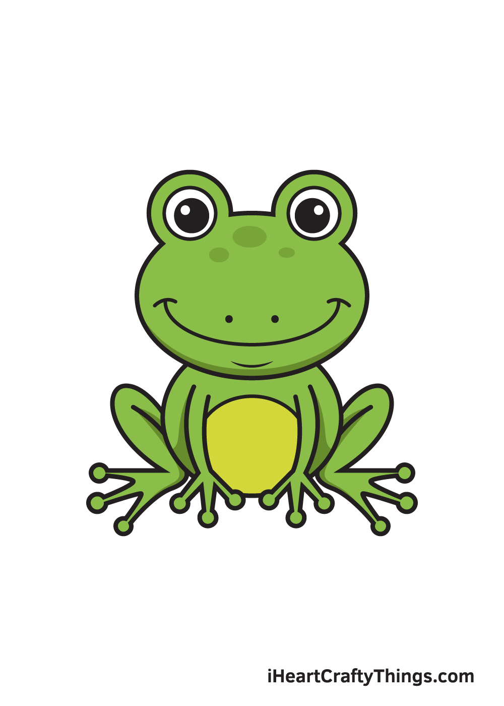 Frog Drawing – 9 Steps