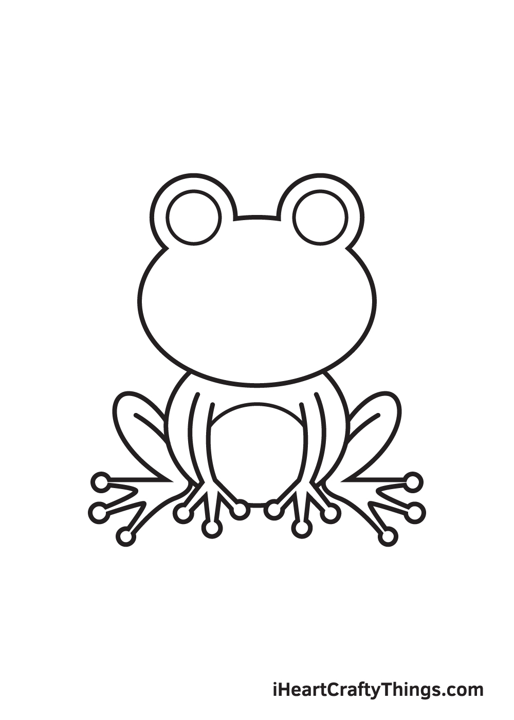 Frog Drawing – Step 7