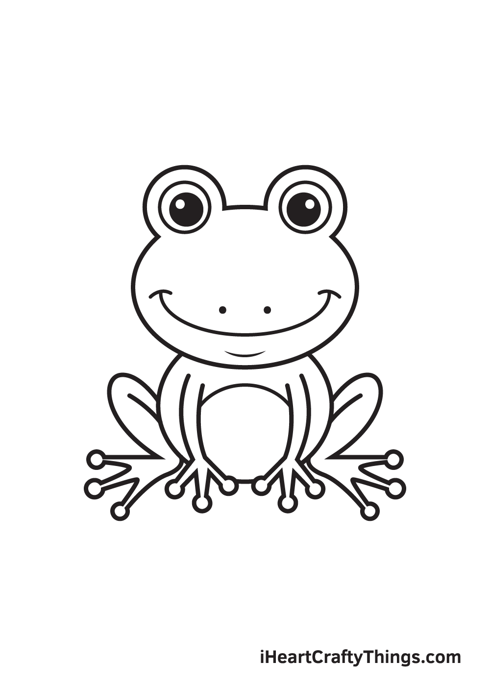 Frog Drawing – Step 9