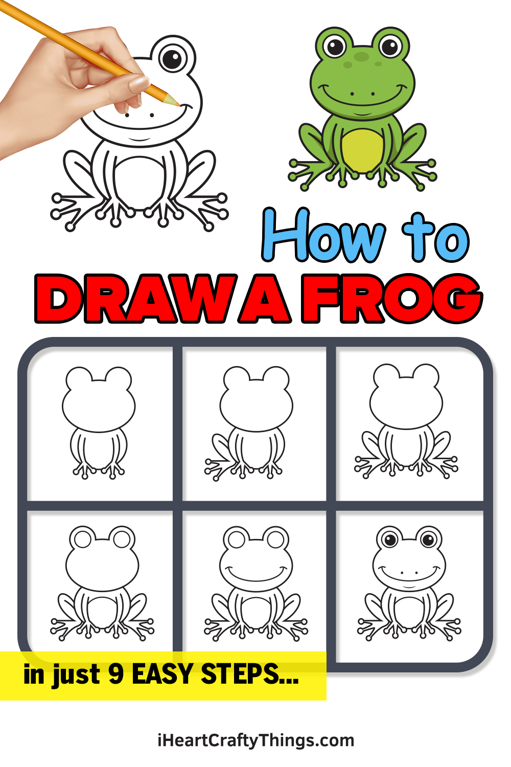 How to Draw a Frog in 9 Easy Steps