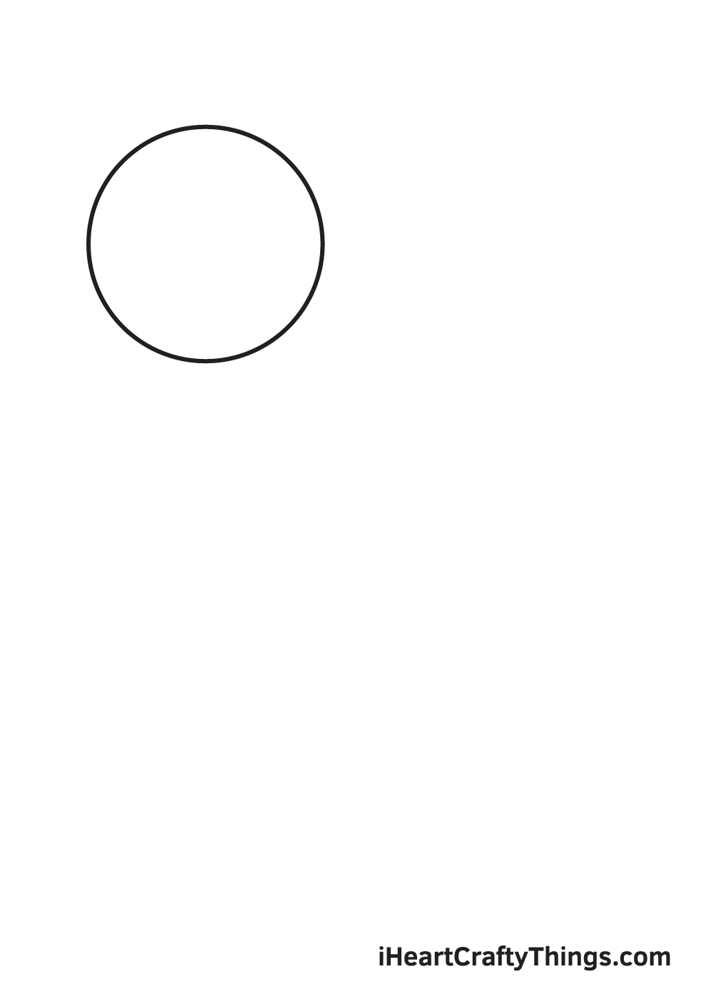 galaxy drawing - step 1