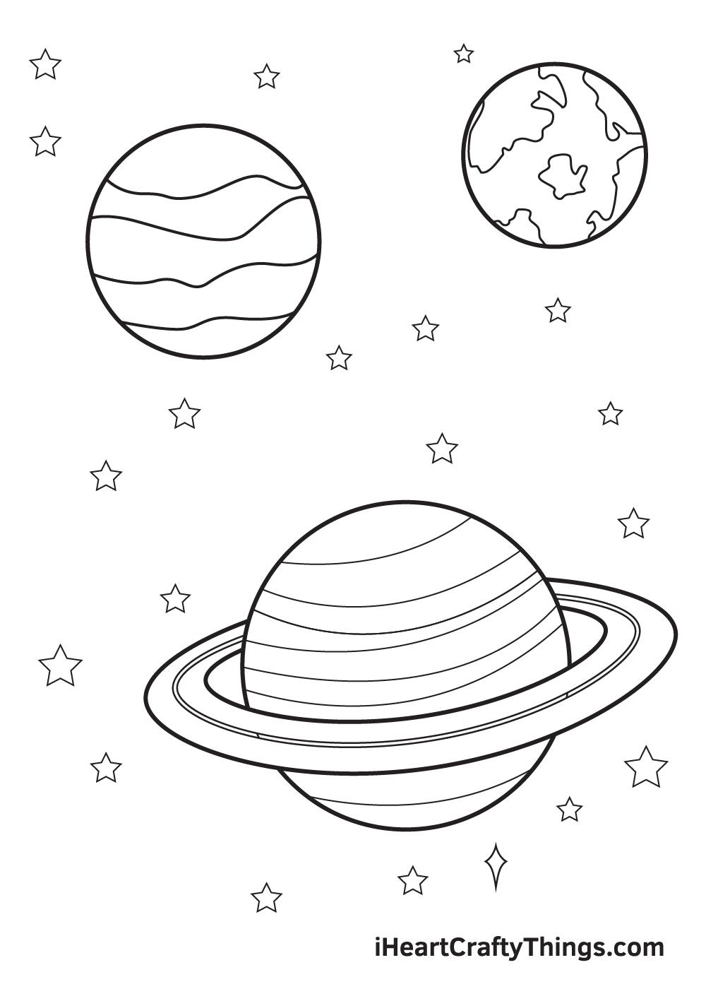 galaxy drawing - step 8