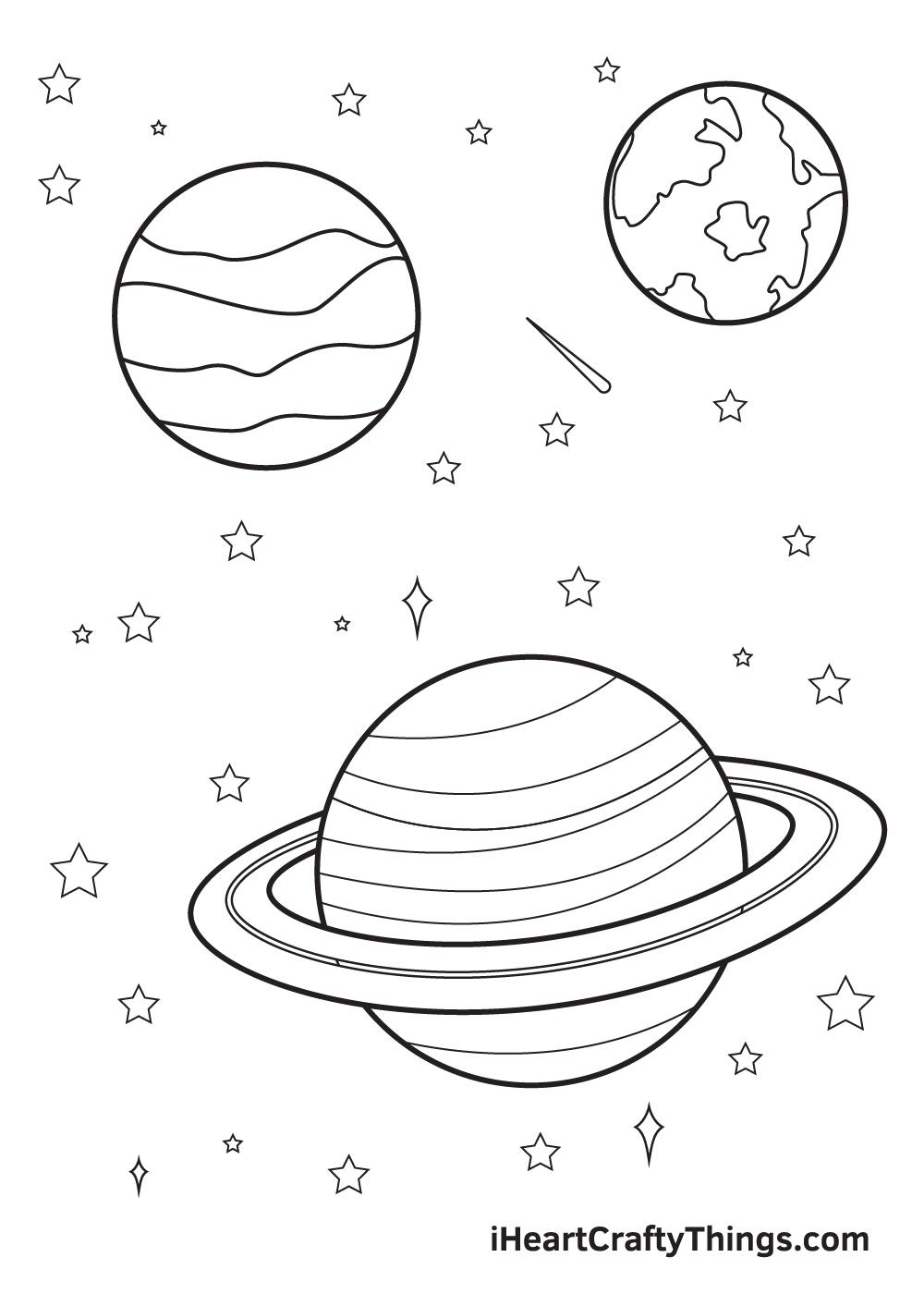 galaxy drawing - step 9