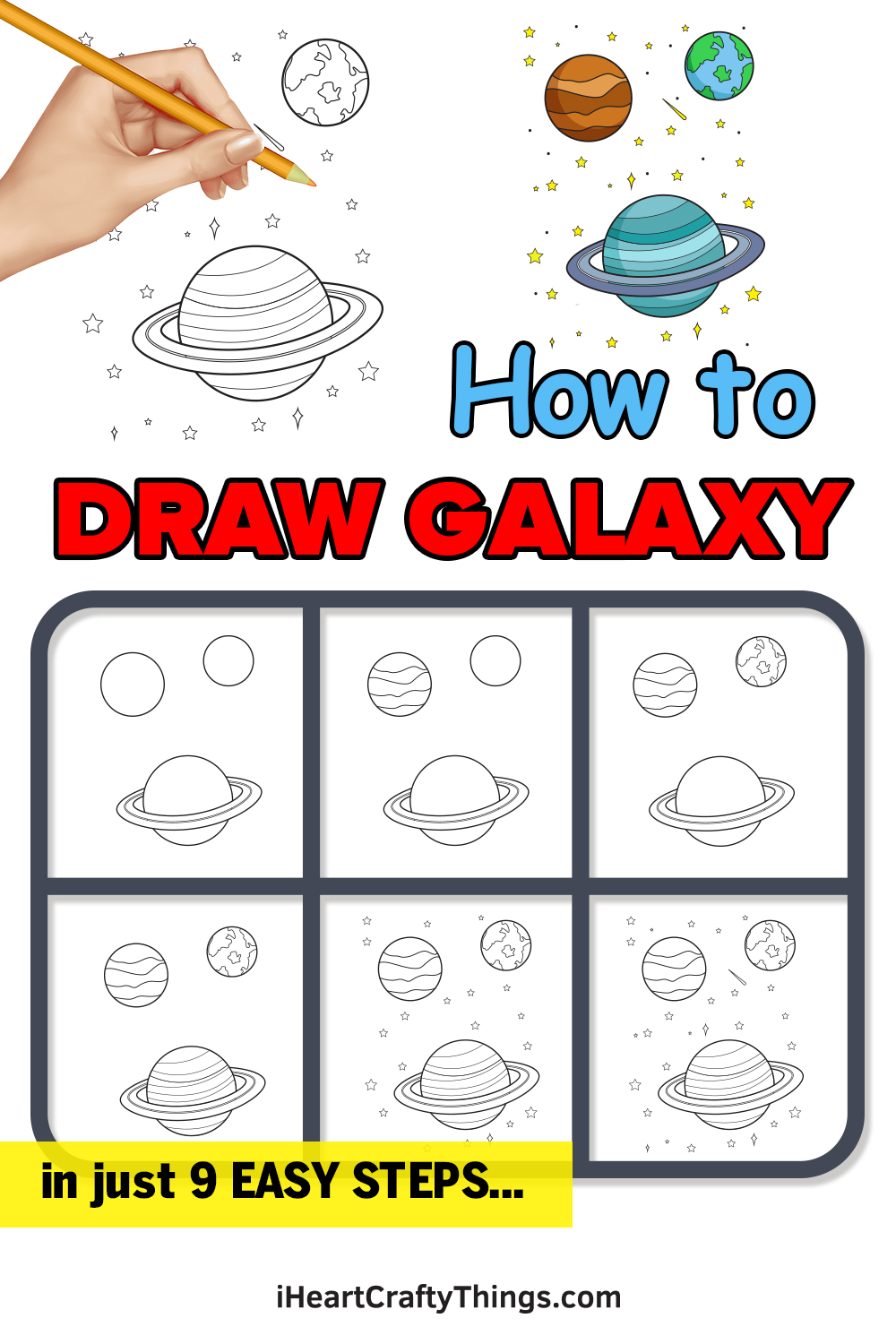 how to draw galaxy in 9 easy steps