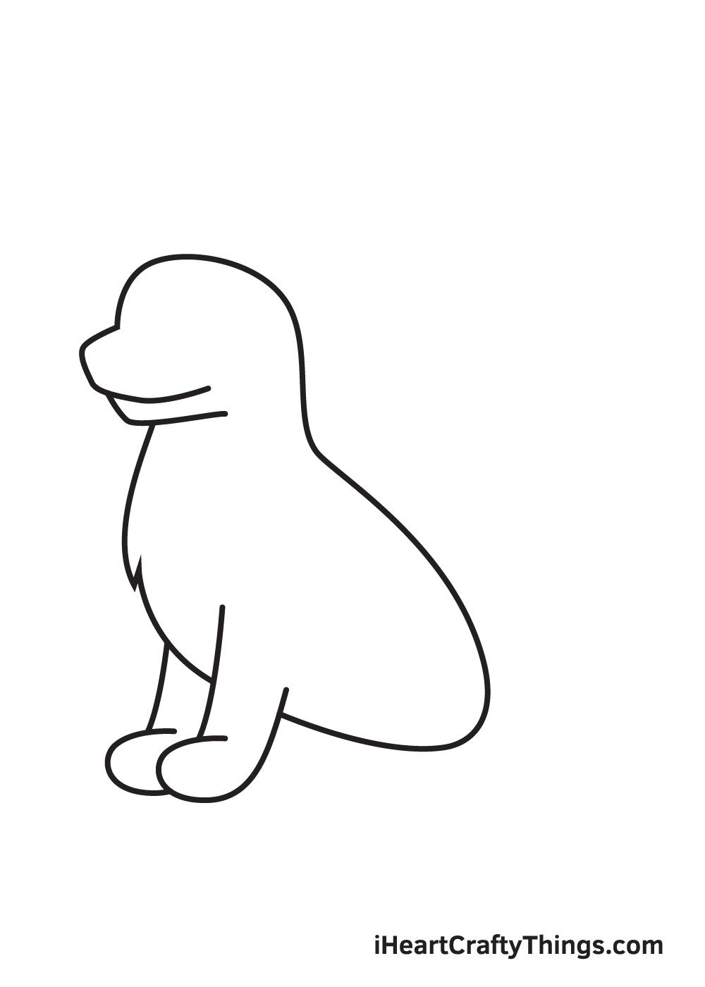 German Shepherd drawing - step 4
