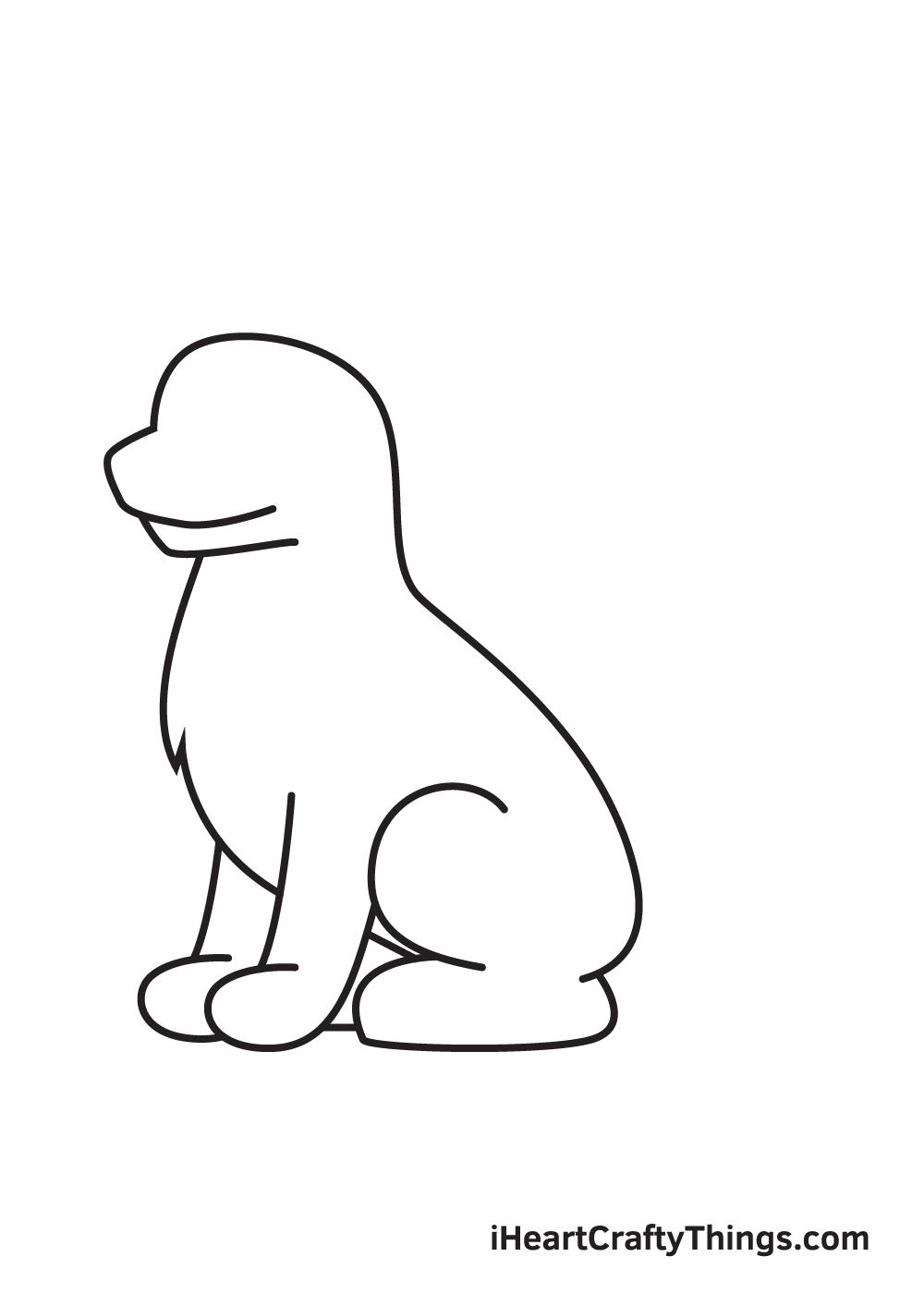 German Shepherd drawing - step 5