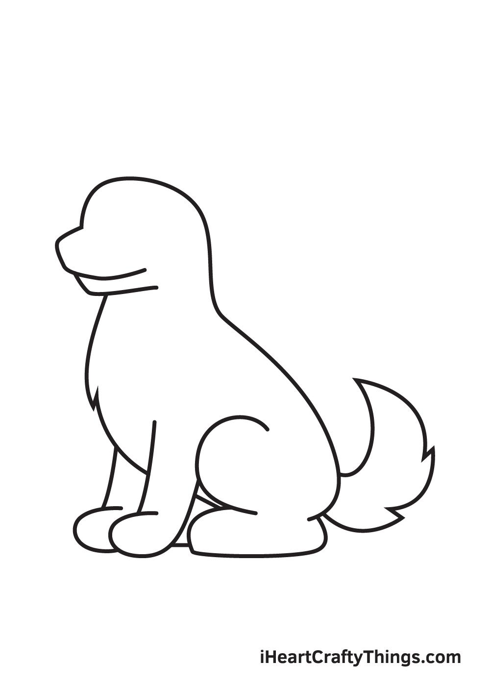 German Shepherd drawing - step 6