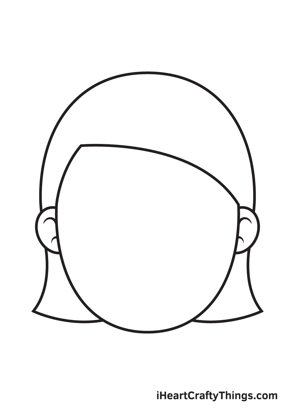 Girl Face Drawing – Step 3