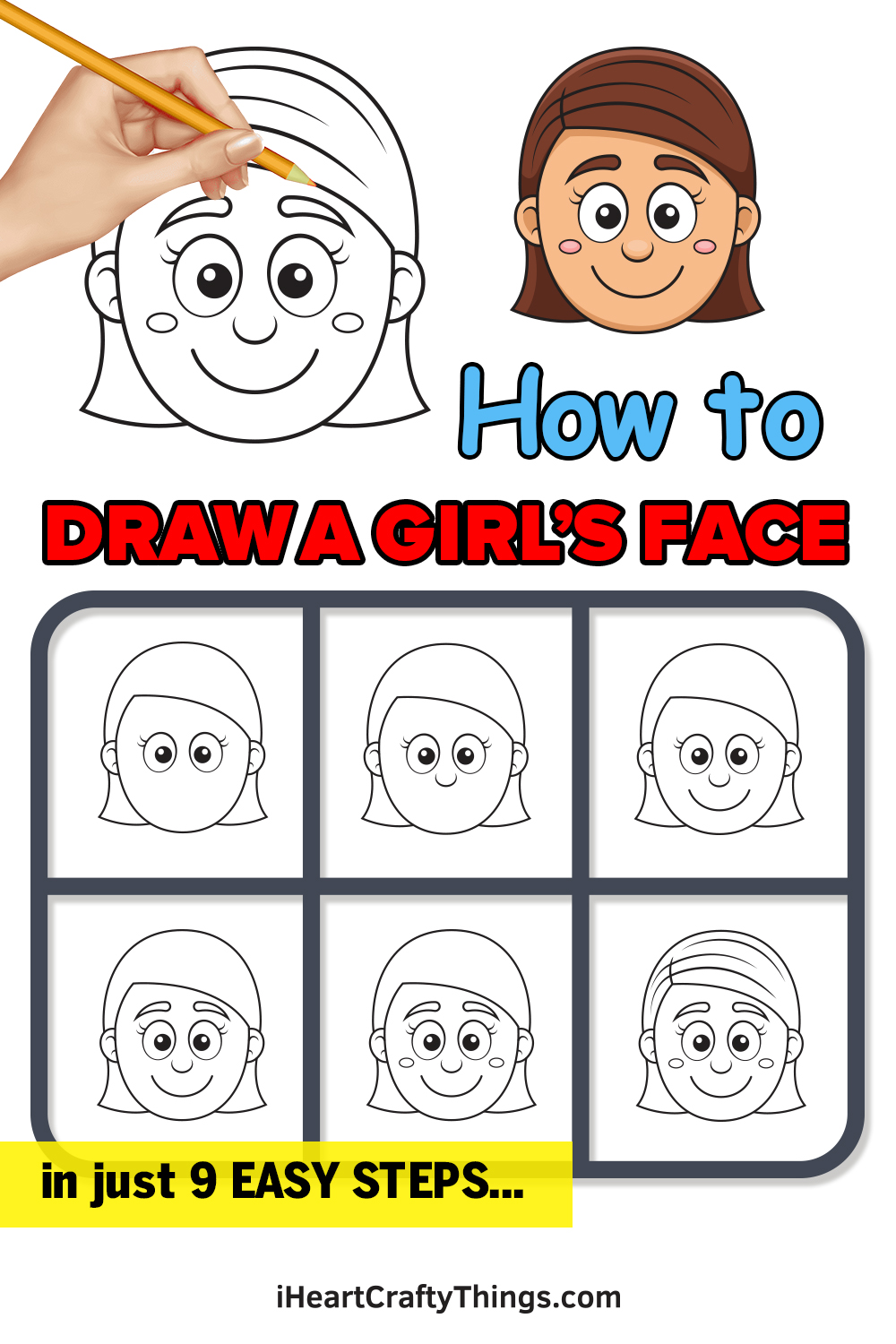 How to Draw a Girl's Face in 9 Easy Steps