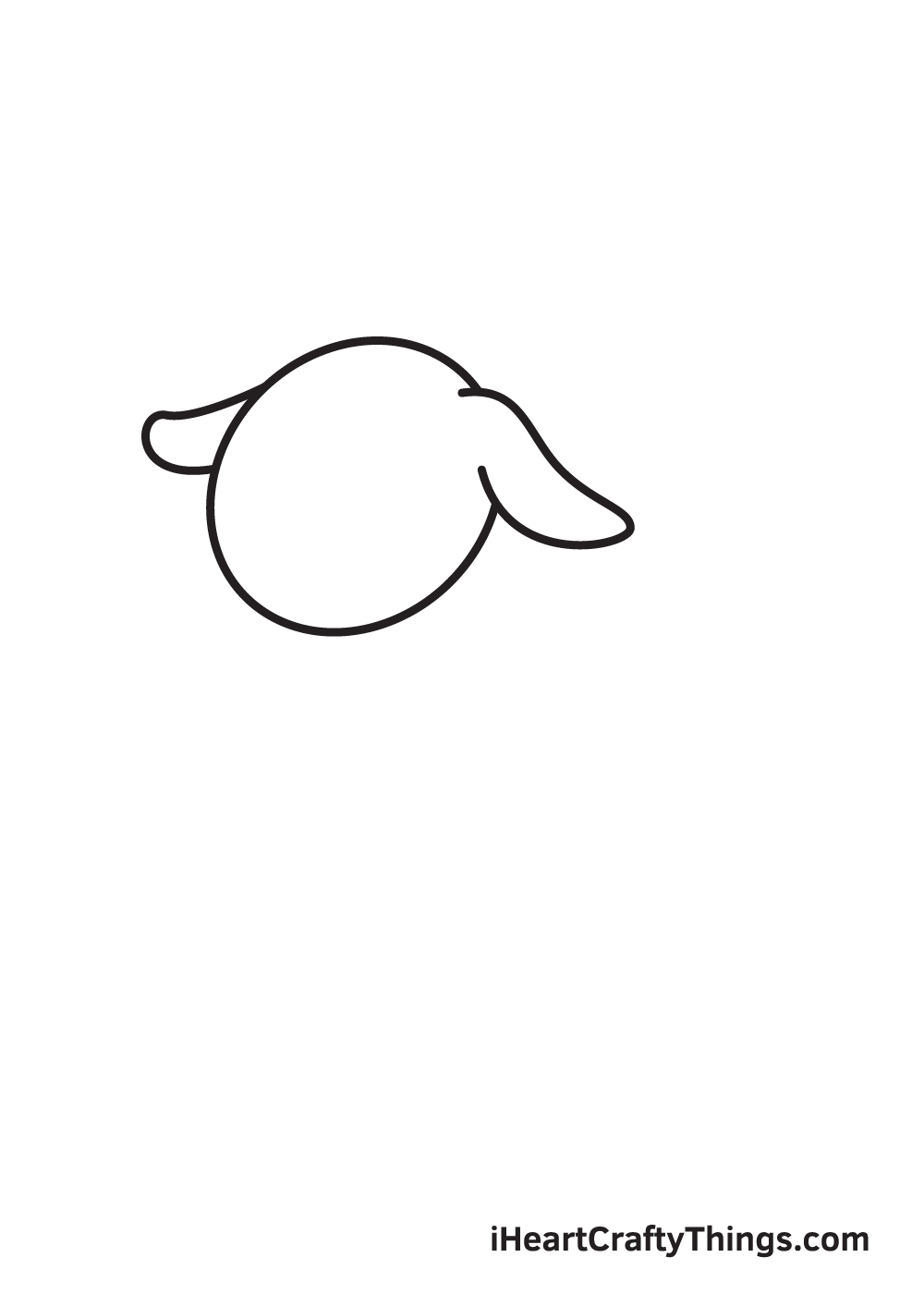 goat drawing - step 2