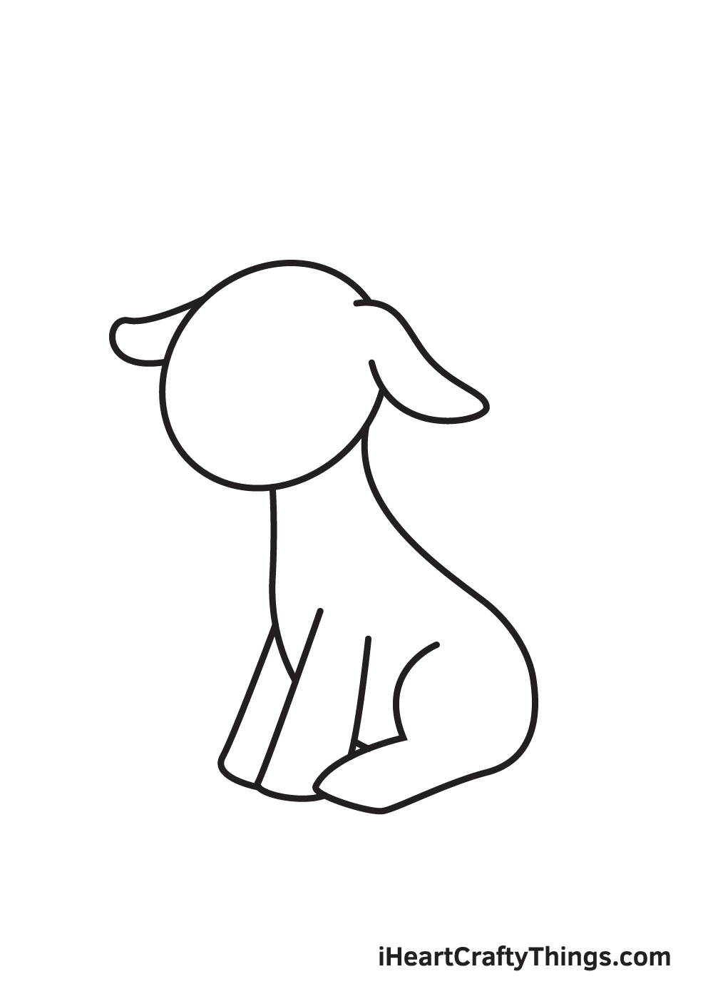 goat drawing - step 5