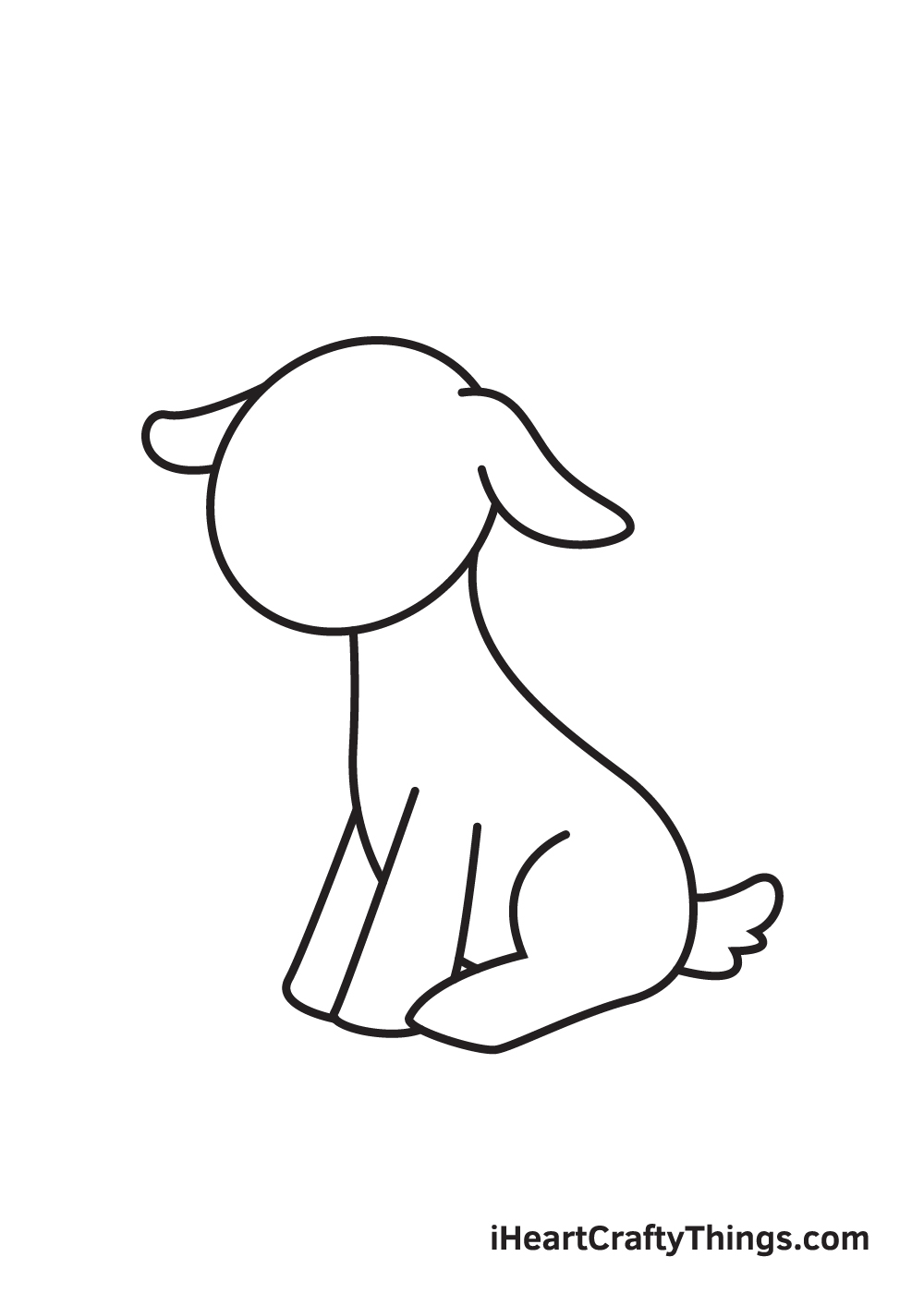goat drawing - step 6