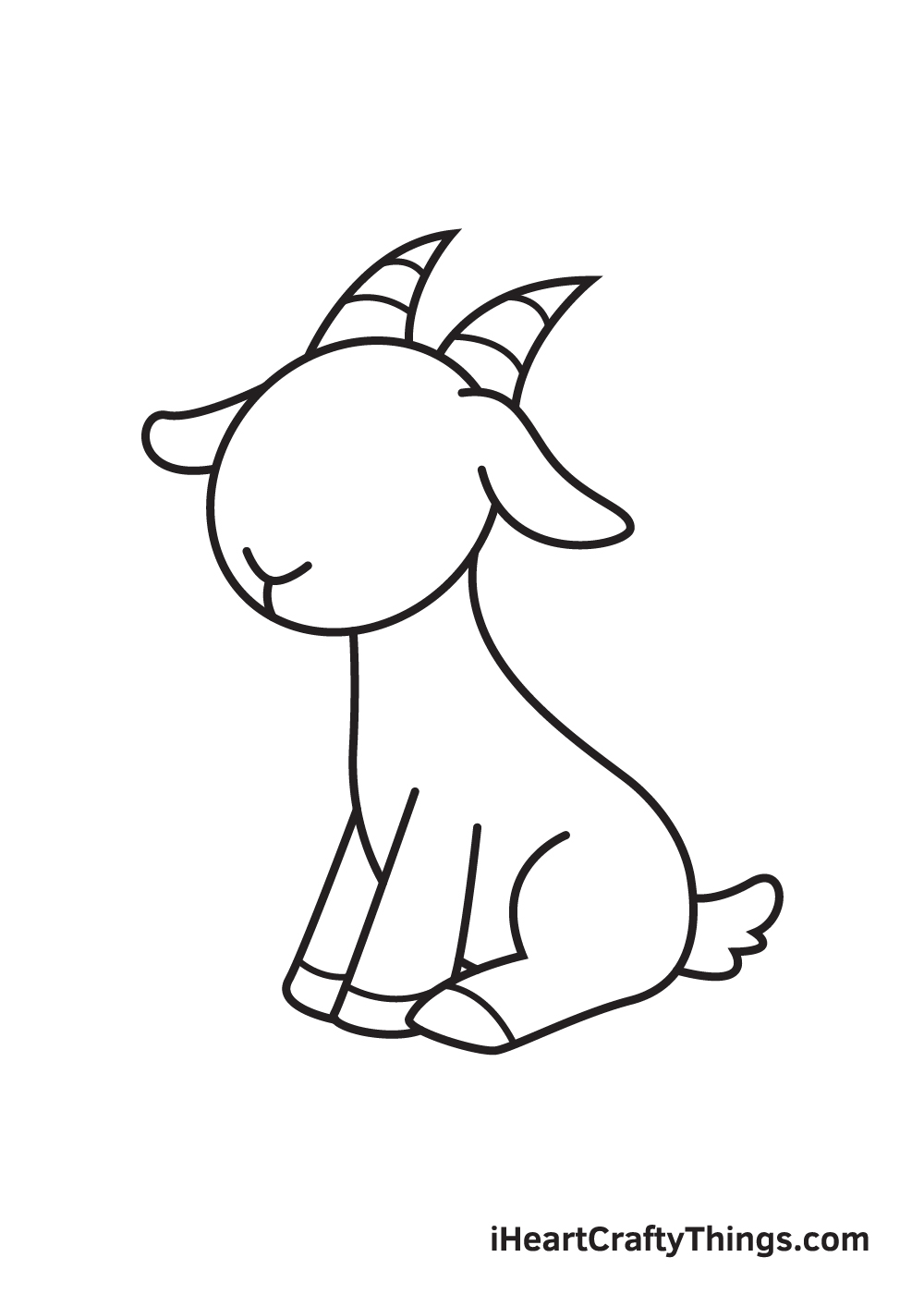 goat drawing - step 8