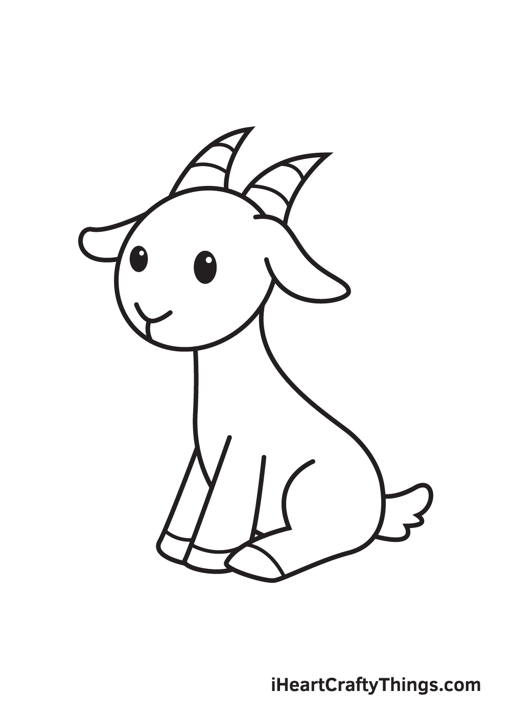 goat drawing - step 9