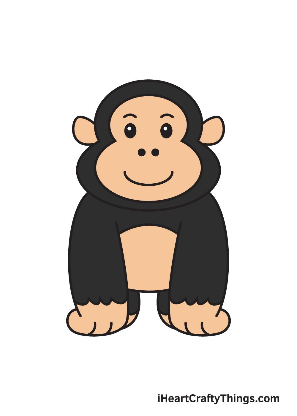 gorilla drawing - 9 steps