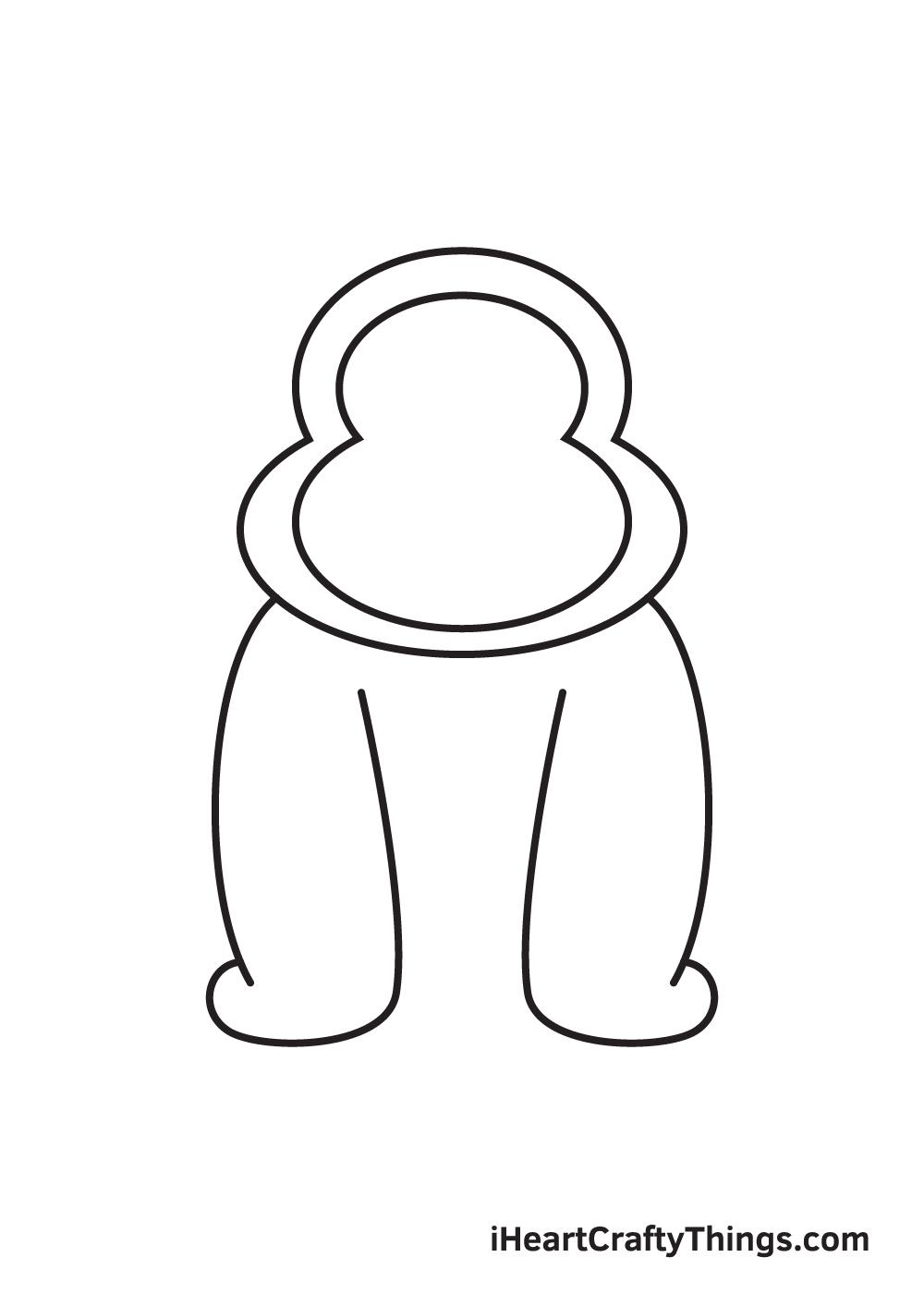 gorilla drawing - step 5