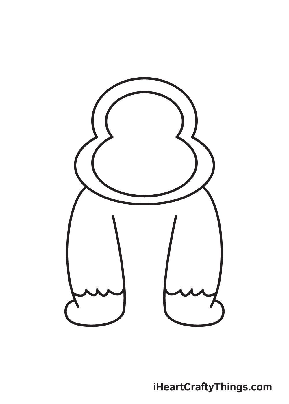 gorilla drawing - step 6