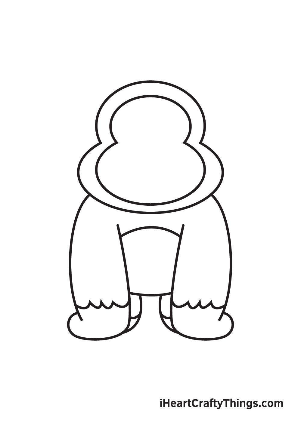 gorilla drawing - step 7