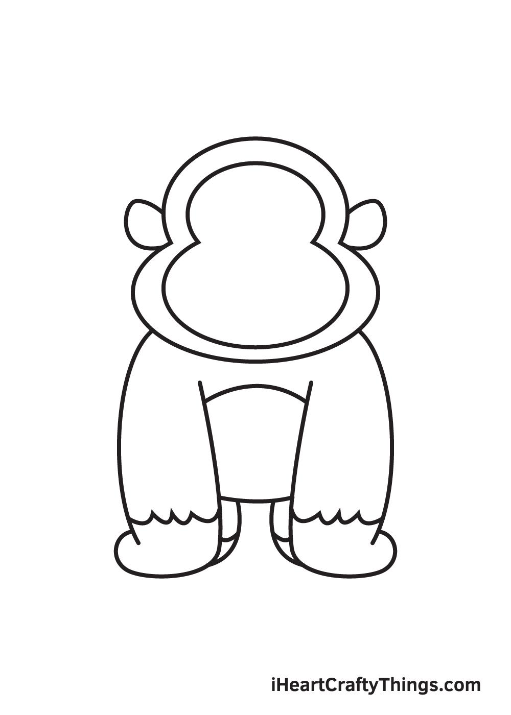 gorilla drawing - step 8