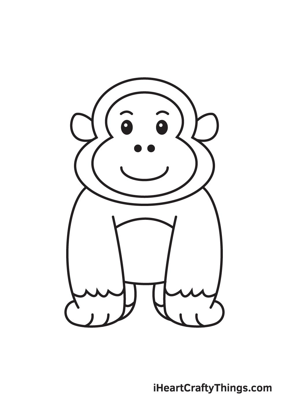 gorilla drawing - step 9