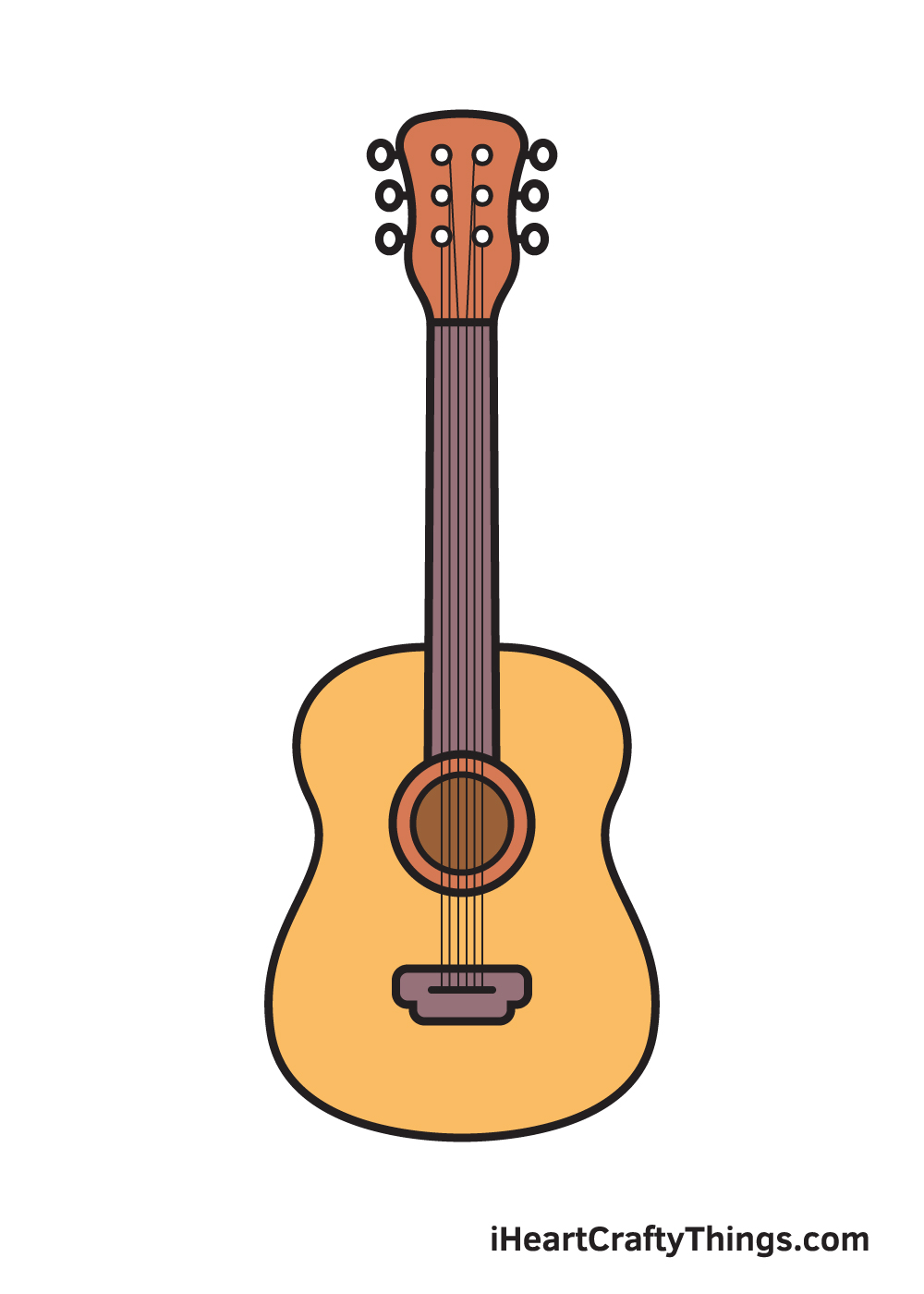 Guitar Drawing – 9 Steps