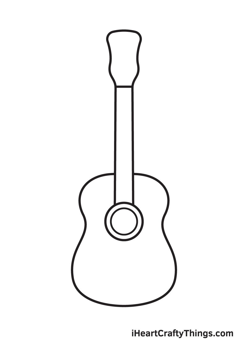 Vẽ đàn guitar - Bước 4