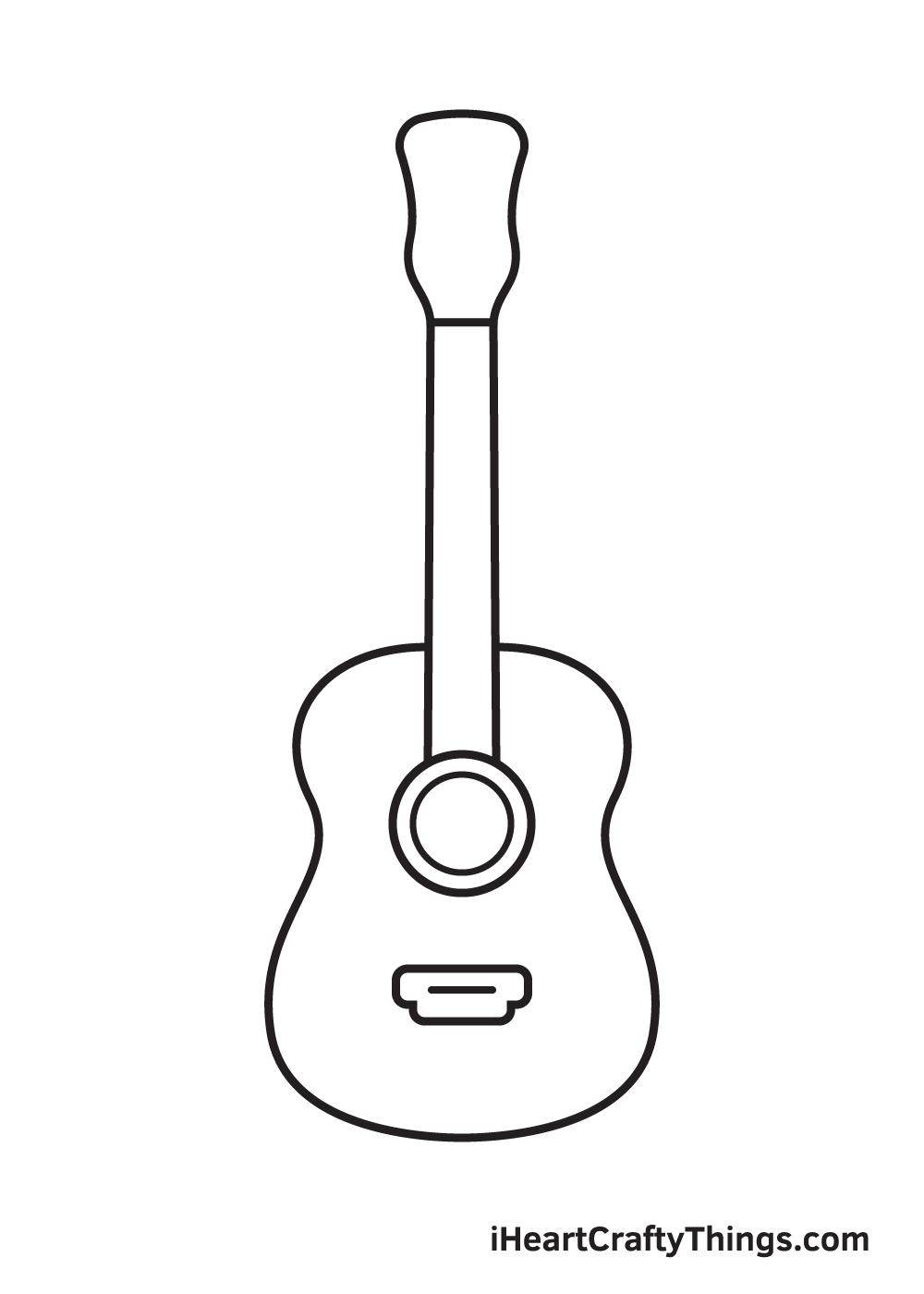 Vẽ đàn guitar - Bước 5