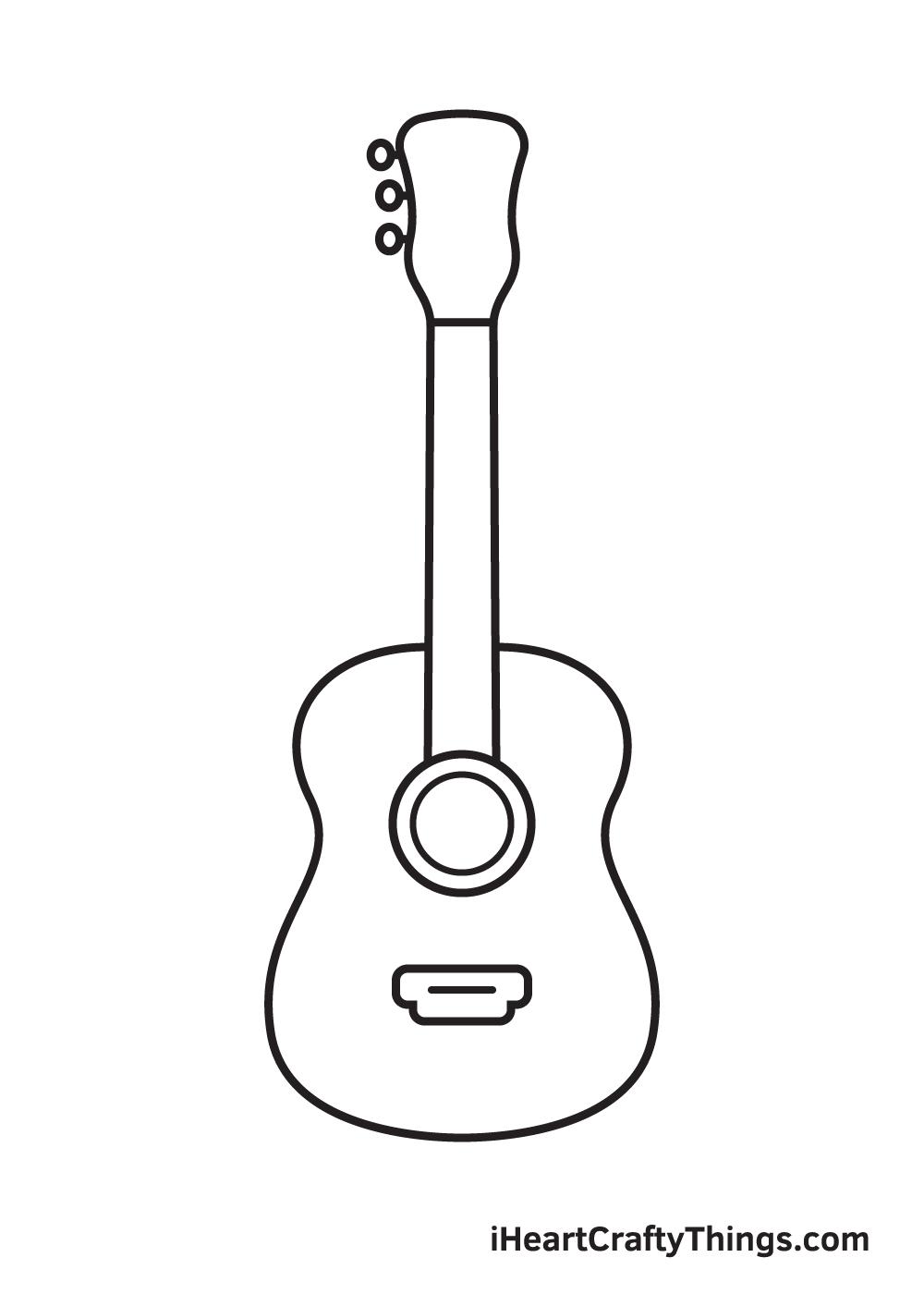 Vẽ đàn guitar - Bước 6