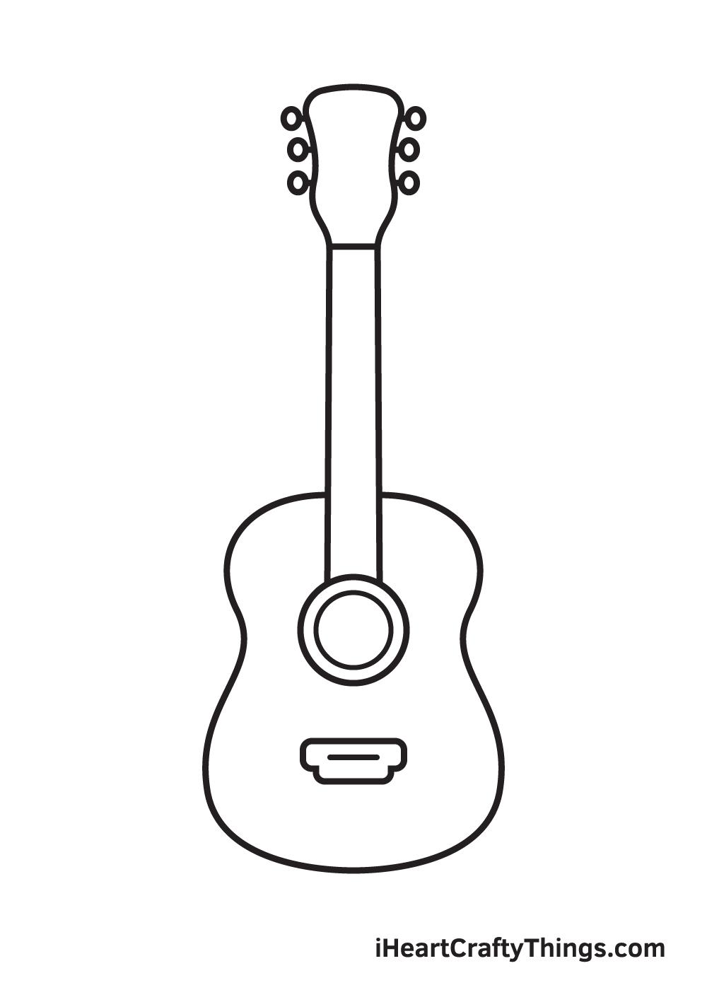 Vẽ đàn guitar - Bước 7