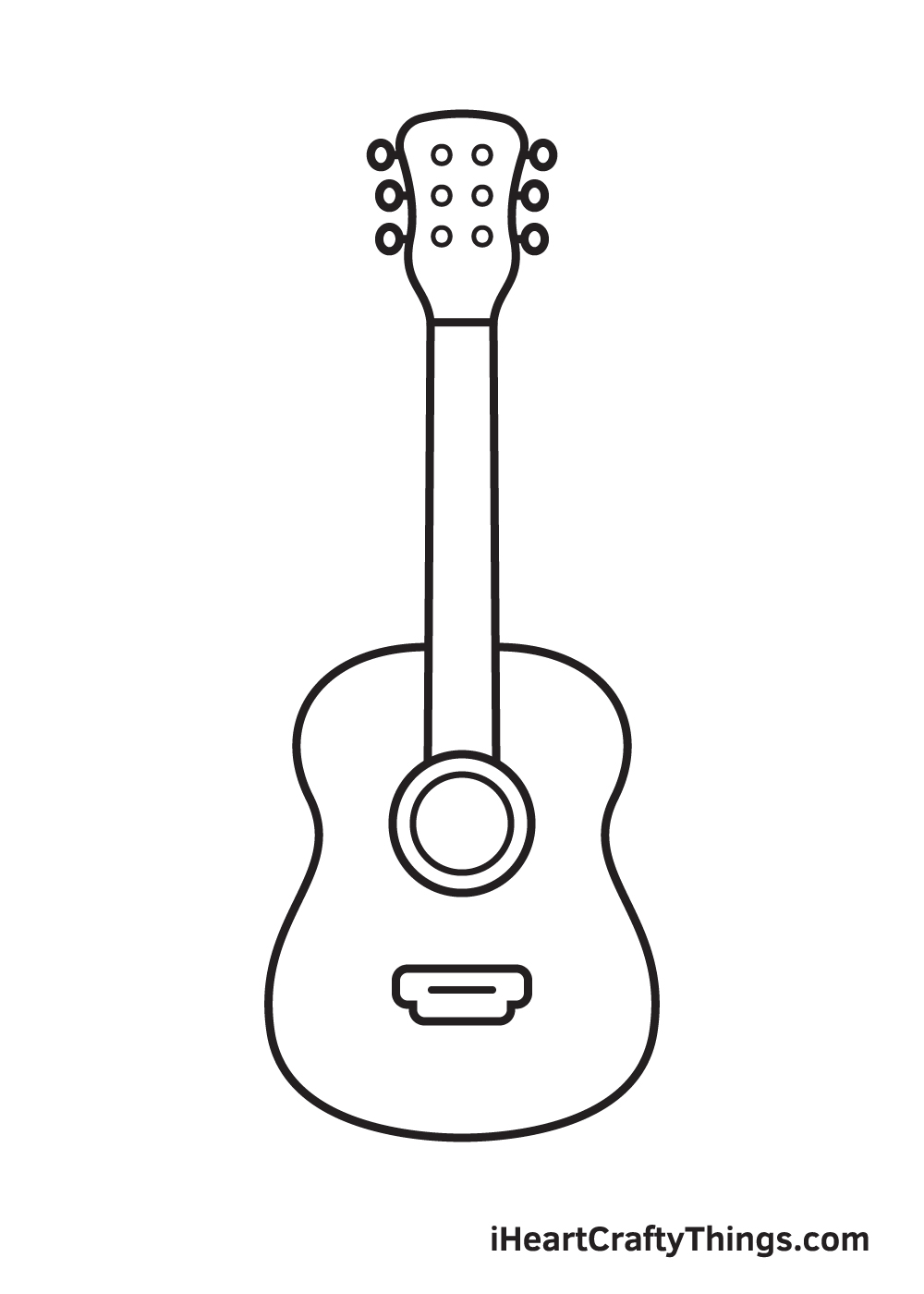Vẽ đàn guitar - Bước 8