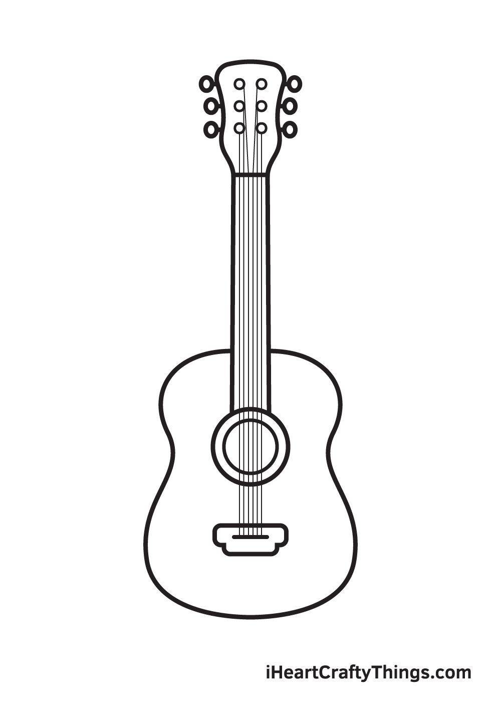 Vẽ đàn guitar - Bước 9