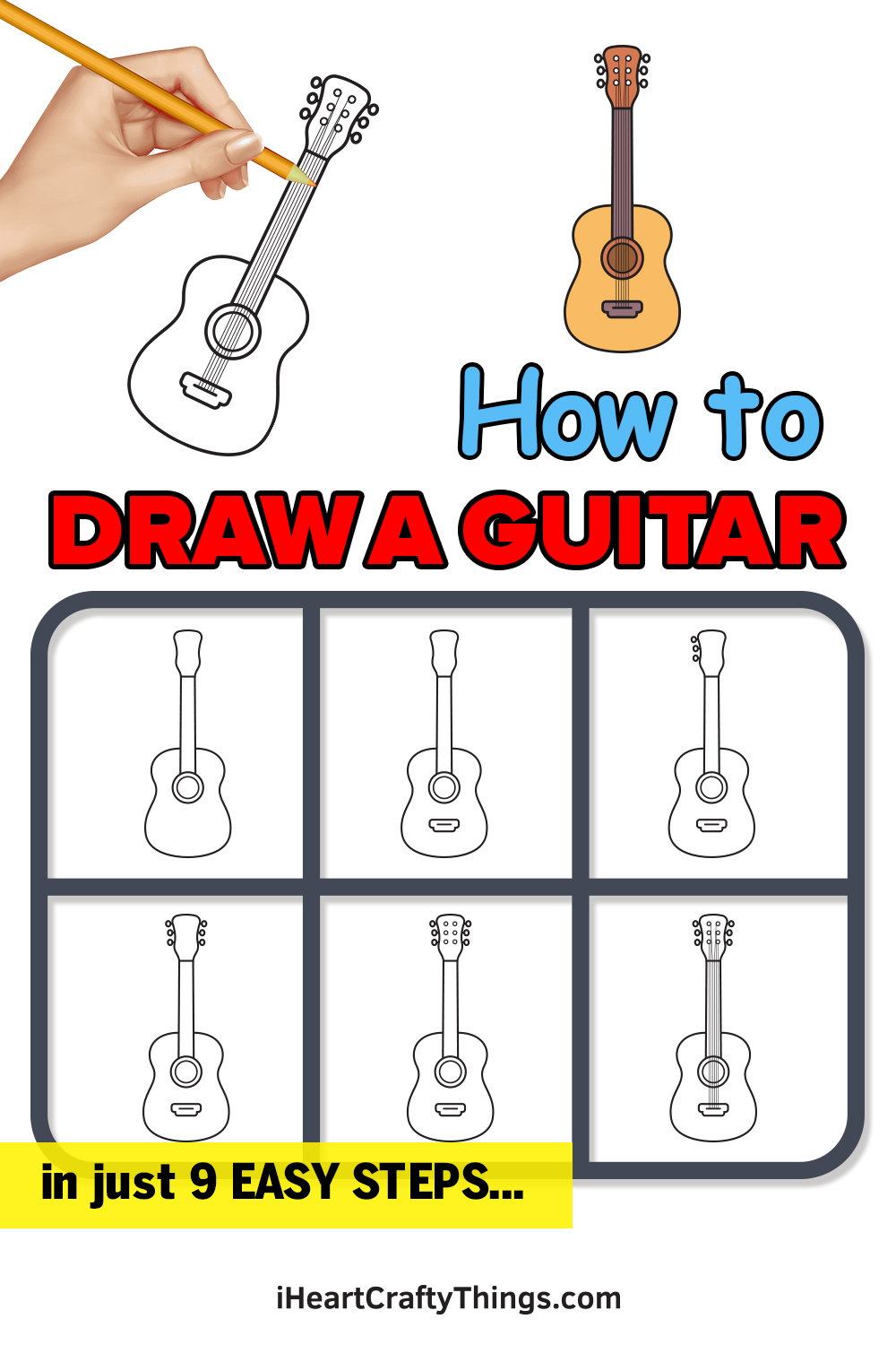 How to Draw a Guitar in 9 Easy Steps