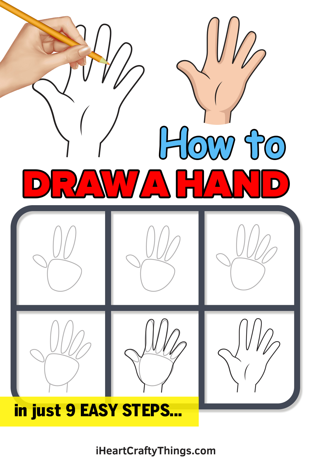 How to Draw a Hand in 9 Easy Steps