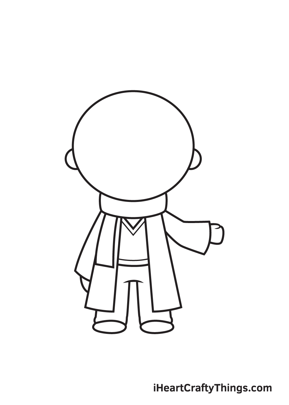 Harry Potter Drawing – Step 6