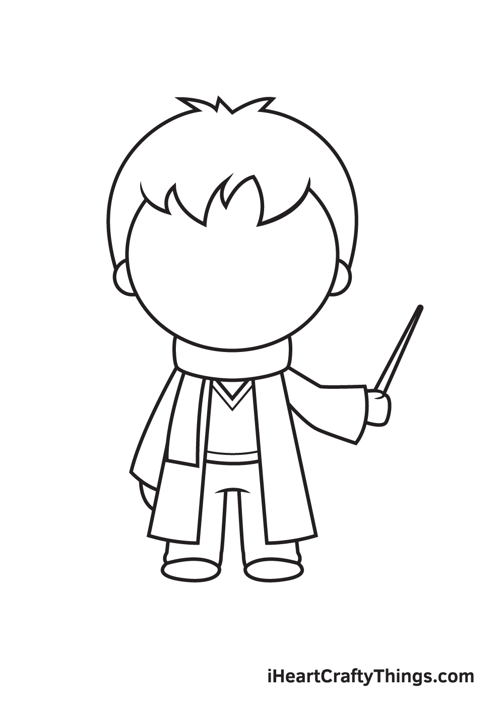 Harry Potter Drawing – Step 7