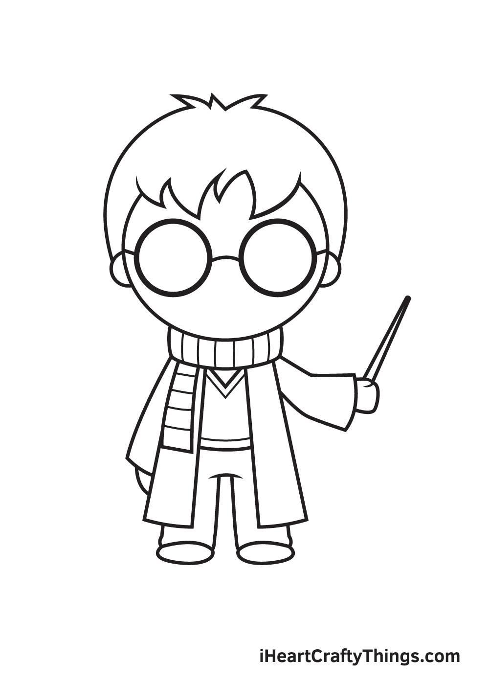 Harry Potter Drawing – Step 8