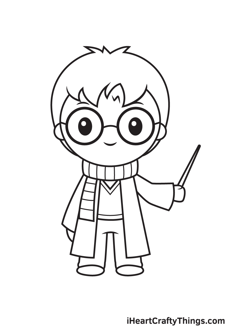Harry Potter Drawing – Step 9