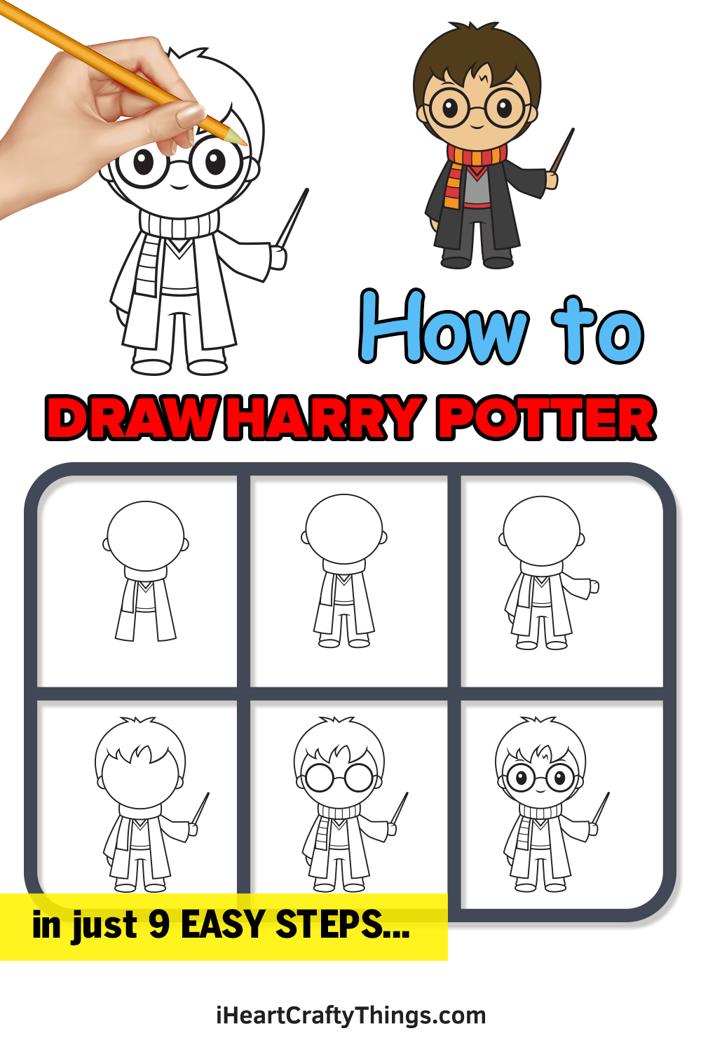 How to Draw Harry Potter in 9 Easy Steps