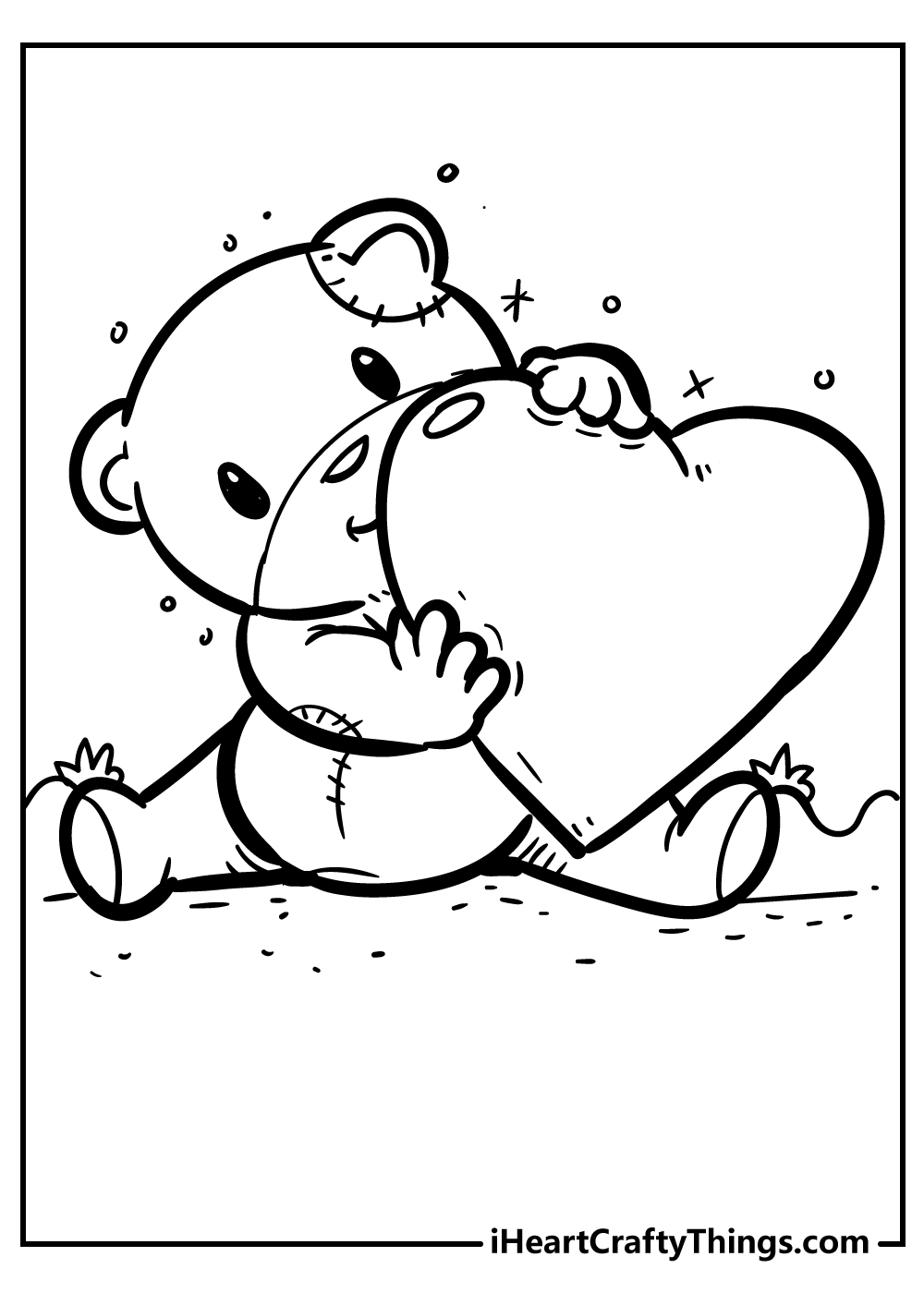 cute heart coloring page