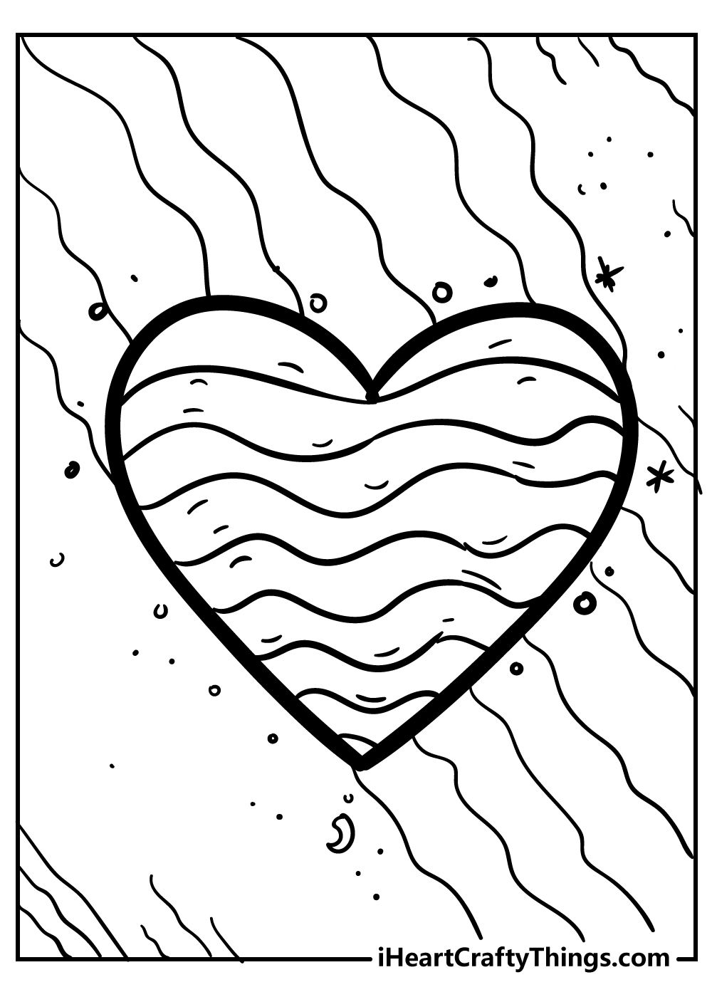 free heart coloring page