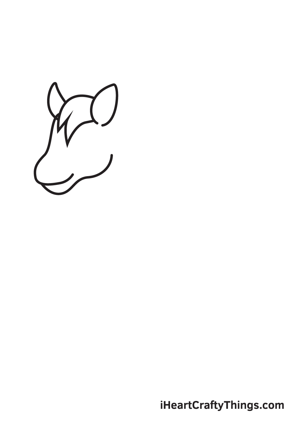 horse drawing - step 2