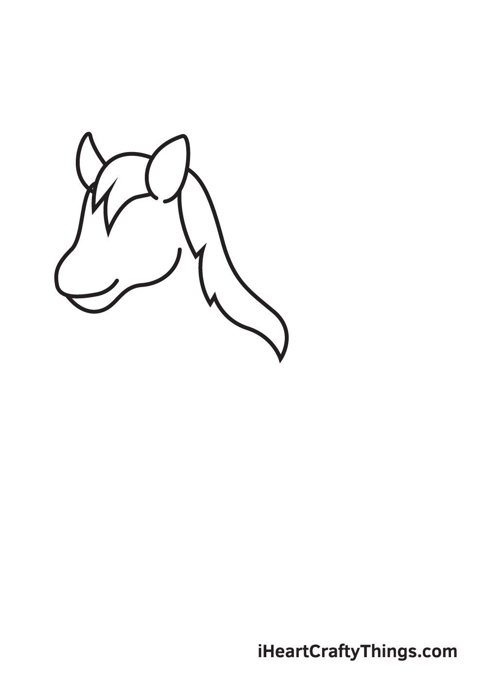horse drawing - step 3