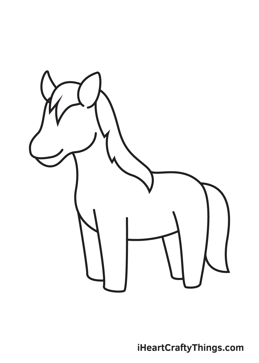 horse drawing - step 7