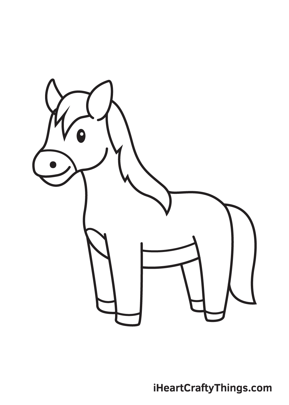 horse drawing - step 9