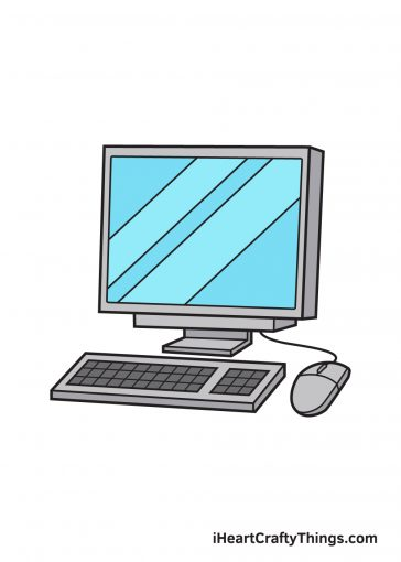 how to draw computer image