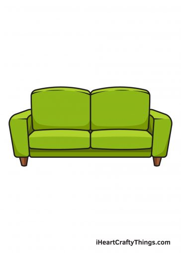 How to Draw Couch Image