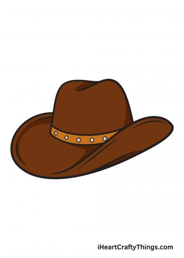 how to draw cowboy hat image