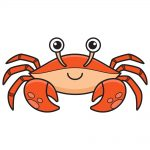 How to Draw Crab Image